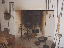 Main house's cellar kitchen fireplace and oven
