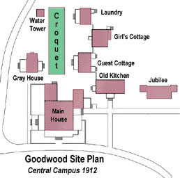 Goodwood main house and courtyard plan as it looked in 1912
