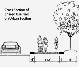 Cross Section of Shared Use Trail