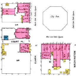 Covington city center, 1895 Sanborn