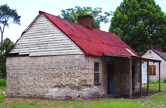 Tabby slave cabin in the midst of restoration