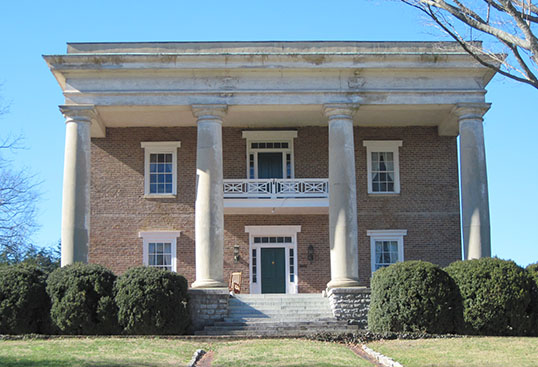 Gordon-Lee House, 217 Cove Road, Greek Revival style built by James Gordon 1840-1847; Neoclassical Revival remodel ca. 1907 for Gordon Lee by Adams & Alsup of Chattanooga