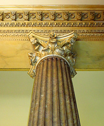 Column in the bank lobby of the C&S National Bank (Empire Building, 1901, Morgan & Dillon; 1929 remodel by  Hentz, Adler & Schutze), now GSU's Robinson College of Business